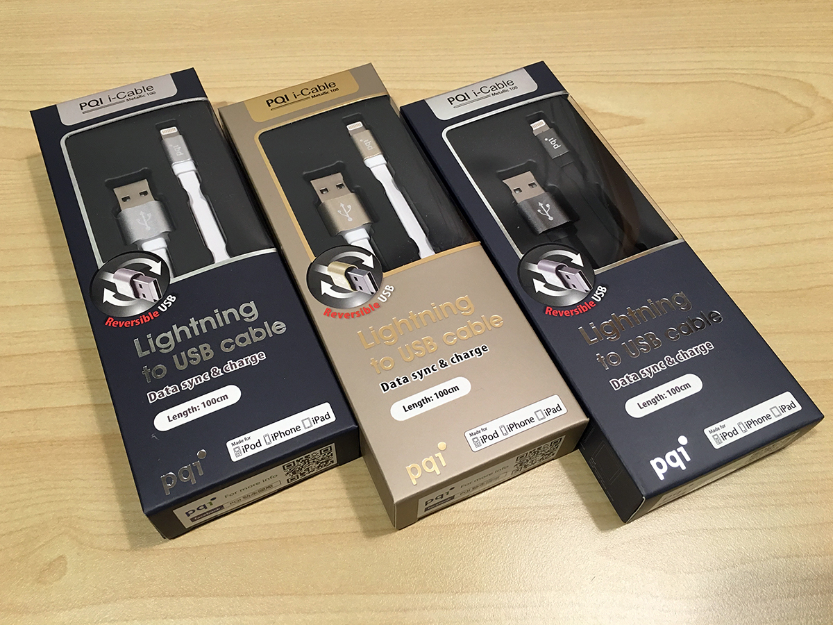 PQI i-Cable Lightning Cable(ライトニングケーブル) iPhone/iPad用 充電&同期ケーブル